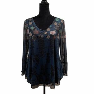 NWT Desigual pullover long sleeve top size large